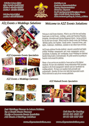 Welcome to a2z Events & Wedding Solutions,  Pakistan's top best,