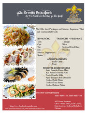 We Offer best Packages on Chinese,  Japanese,  Thai and Continental Food