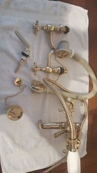 Full set of traditional bathroom taps Antique Gold